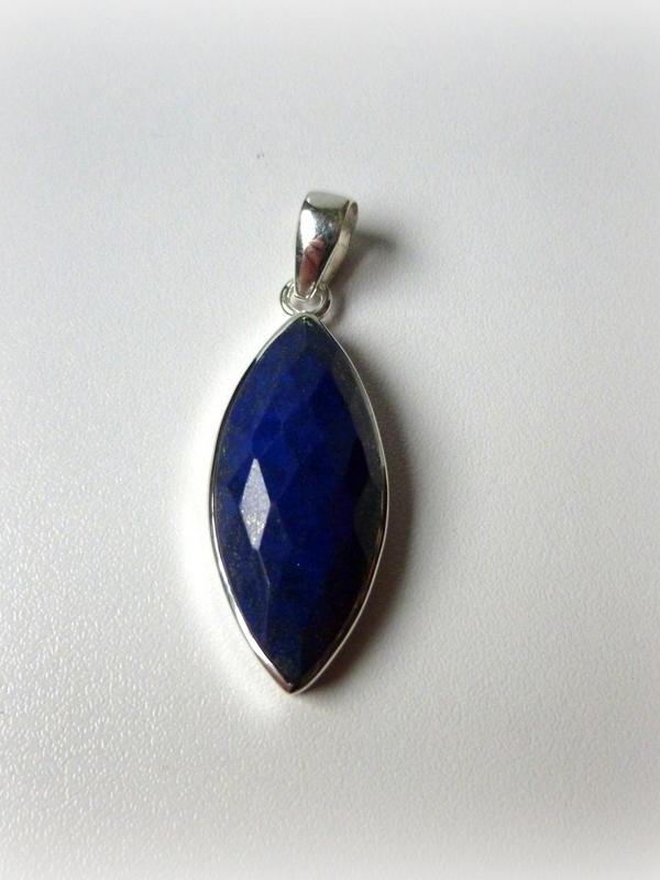 Lapis Lazuli in 925/1000 zilveren hanger 02