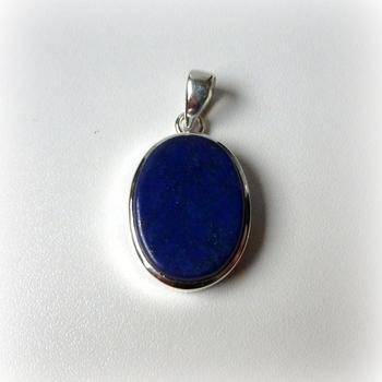 Lapis Lazuli in 925/1000 zilveren hanger 03