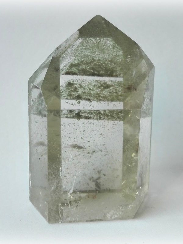 Bergkristal met Chloriet fantomen