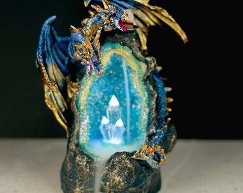 Draak kristal grot LED Backflow Wierook brander (MOMENTEEL UIT VOORRAAD)!