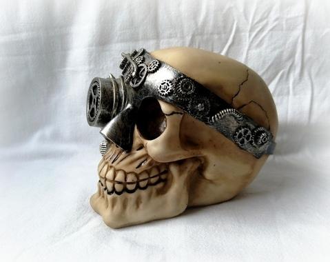 Steampunk schedel 01