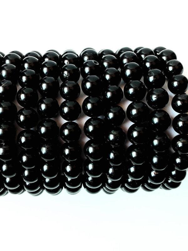 kogelarmband van zwarte Toermalijn